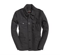 מעיל בסגנון אלגנטי לגברים Tito Four Pocket Wool בצבע אפור כהה