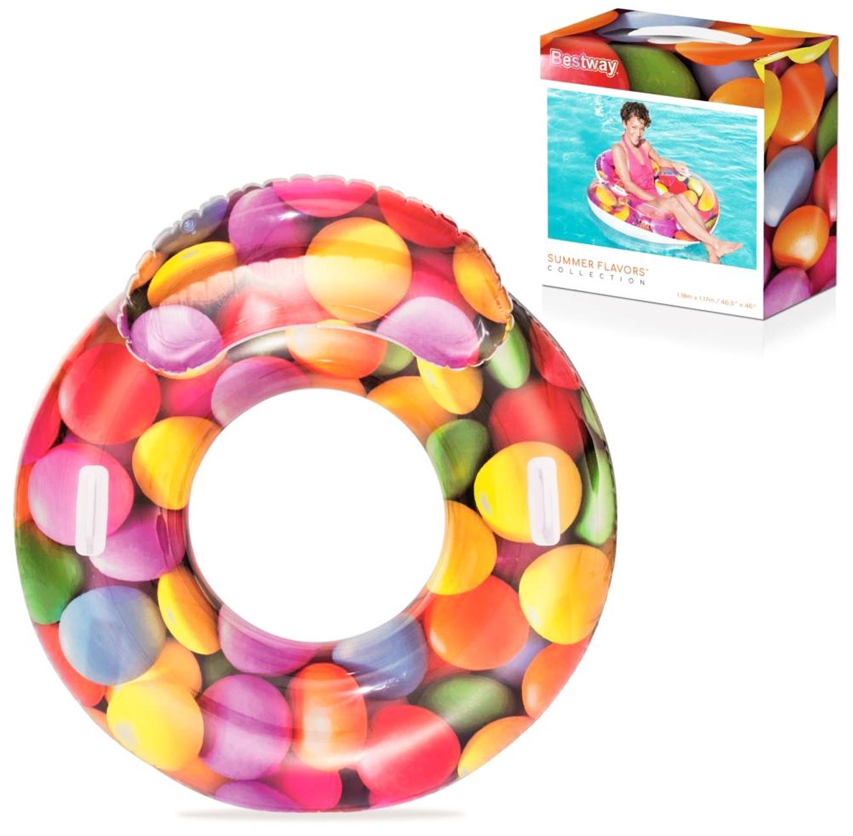 גלגל ים בעיצוב סוכריות צבעוניות עם ידיות ומשענת 180X72 ס