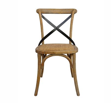 כסא מעוצב דגם קיאני ביתילי עשוי עץ בוקיצה בשילוב מושב ראטן במגוון צבעים לבחירה - משלוח חינם - תמונה 4