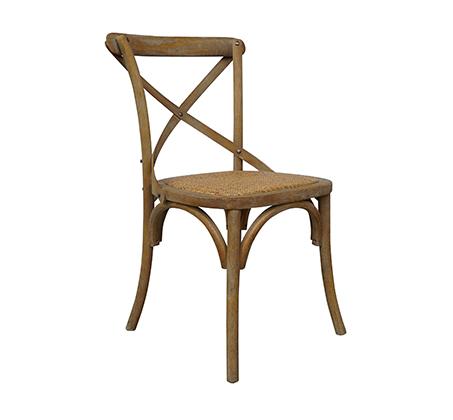 כסא מעוצב דגם קיאני ביתילי עשוי עץ בוקיצה בשילוב מושב ראטן במגוון צבעים לבחירה - משלוח חינם - תמונה 3