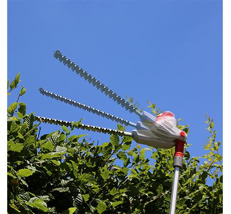 מגזמת גדר חיה IKRA טלסקופית חשמלית לעבודה עד גובה 4 מטר קלת משקל ונוחה לעבודה דגם ITHS 500 - משלוח חינם - תמונה 2