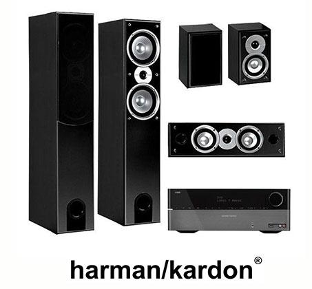 מדהים רסיבר קולנוע ביתי ואיכותי מבית הרמן קרדון + מערכת 5 רמקולים מבית JE-09