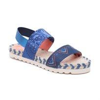Desigual Shoes Formentera - סנדל רצועות לנשים מודפס בצבע כחול