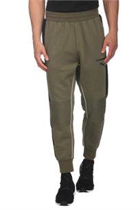 מכנסי טרנינג PUMA לגבר דגם 57335114 בצבע ירוק חאקי