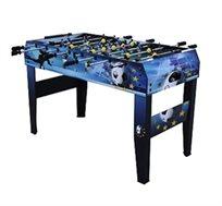 שולחן כדורגל סוקר צבעוני, עשוי עץ משובח עם לוח תוצאות ומתקן איסוף לכדורים, בעל רגליים עבות ליציבות
