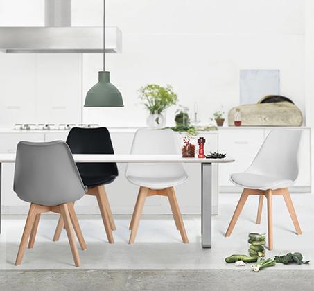 זוג כיסאות מרופדים דמוי עור לשימוש בבית ובמשרד דגם פרנקפורט Homax - תמונה 2