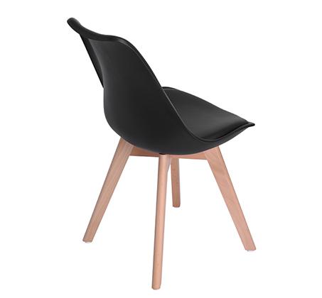 זוג כיסאות מרופדים דמוי עור לשימוש בבית ובמשרד דגם פרנקפורט Homax - תמונה 5