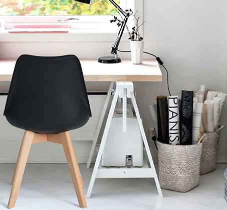 זוג כיסאות מרופדים דמוי עור לשימוש בבית ובמשרד דגם פרנקפורט Homax - תמונה 3