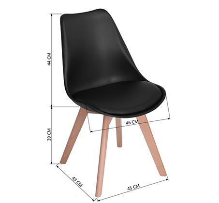 זוג כיסאות מרופדים דמוי עור לשימוש בבית ובמשרד דגם פרנקפורט Homax - תמונה 4