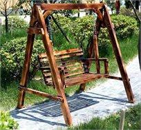 נדנדה חלומית עשויה עץ מלא בגימור משובח דגם ליאו