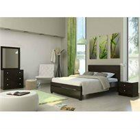 סט ריהוט לחדר השינה הכולל מיטה, שתי שידות לילה, שידת 3 מגירות ומראה דגם AVIV במגוון צבעים לבחירה