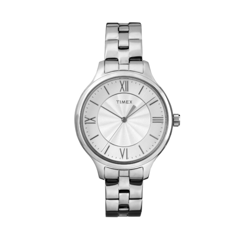 שעון יד עם ספרות רומיות לנשים - כסוף