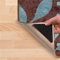 סט 8 מדבקות מייצבות לשטיחים למניעת תזוזה והחלקה, ניתנות לשטיפה חוזרת