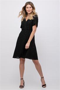 שמלת אריג עם דפוס מטאלי