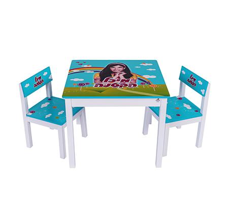 שולחן וכיסאות לילדים עם ציור בהדפסת משי של מיכל הקטנה לעיצוב חדר הילדים - משלוח חינם - תמונה 2