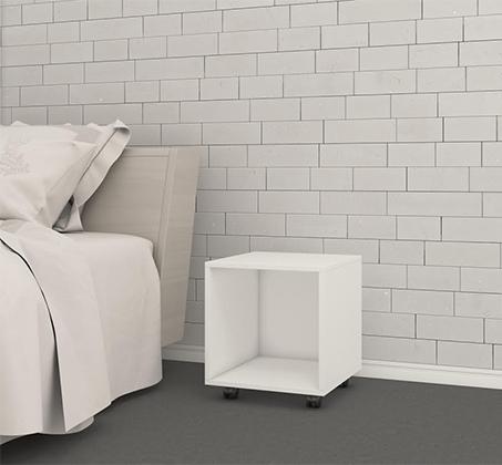 שידה מעוצבת ליד המיטה פתוחה לאיחסון עם גלגלים במגוון צבעים לבחירה - תמונה 2