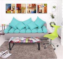 שולחן קפה מזכוכית בהדפסה צבעונית בעיצוב חדשני ומודרני TAKE IT