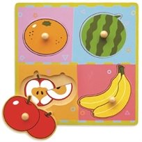 פאזל עץ לפעוטות 4 חלקים פירות