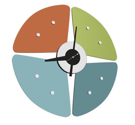 שעון קיר אנלוגי דגם PETAL עשוי אלומיניום - משלוח חינם