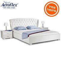מיטה זוגית מעוצבת בשילוב ראש קפיטונג ואבני חן בגודל 160X200 מבית Aeroflex