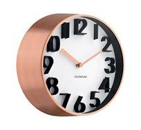 שעון קיר בעל מסגרת נחושת וספרות תלת ממד