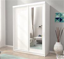 ארון הזזה 2 דלתות עם דלת מראה דגם ALASKA