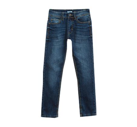 מכנסיי ג'ינס OVS משופשפים בגזרה ישרה לנערים - כחול ים