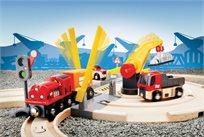 סט רכבות משא ומנוף 26 חלקים מעץ 33208