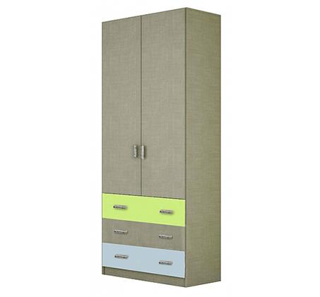 ארון תליה 2 דלתות ומגירות דגם SHIR במגוון צבעים לבחירה