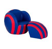 ספה לעיצוב חדר הילדים - כדורגל כחול אדום - קוקולה