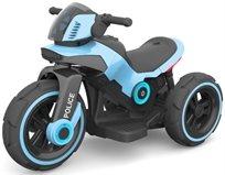 אופנוע Police 6V מפואר עם אפקטים ואור - כחול Twist