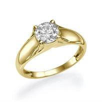 """טבעת אירוסין זהב צהוב """"מורן"""" 1.01 קראט בעלת מראה מרשים ויוקרתי"""
