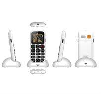 טלפון נייד חדש למבוגרים W50I דור 2, פונטים גדולים ולחצן מצוקה פנס, מסך צבעוני, בלוטות מבית Slider