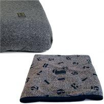 Baby Mitmit סט קייצי למיטת תינוק - שמיכה וסדין פחם שחור - Funny Numbers