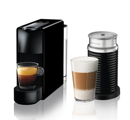 מכונת NESPRESSO אסנזה מיני בצבע שחור דגם C30 כולל מקציף חלב ארוצ'ינו