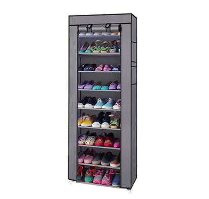 מעמד נעליים עם כיסוי בעל 8 מדפים לאחסון עד 24 זוגות בגוונים לבחירה - תמונה 2