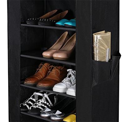 מעמד נעליים עם כיסוי בעל 8 מדפים לאחסון עד 24 זוגות בגוונים לבחירה - תמונה 6