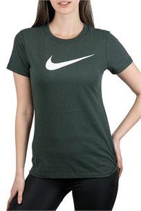 חולצת אימון Nike לנשים בצבע ירוק כהה