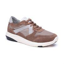 Stonefly Force Man 1Vet - נעלי סניקרס לגברים בשילוב רשת בקדמת הנעל בצבע חום