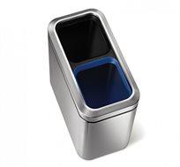 פח אשפה מלבן 20 ליטר Simplehuman להפרדת פסולת