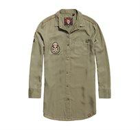 שמלה SUPERDRY Cora Military לנשים בצבע ירוק