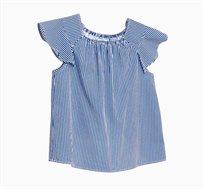 חולצה אלגנטית OVS לילדות - כחול ולבן