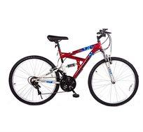 אופני הרים 18 הילוכים עם 2 בולמי זעזועים קדמי ואחורי