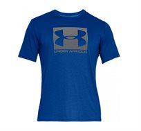 חולצת טי שרט עם הדפס Under Armour Boxed Sportstyle SS - כחול