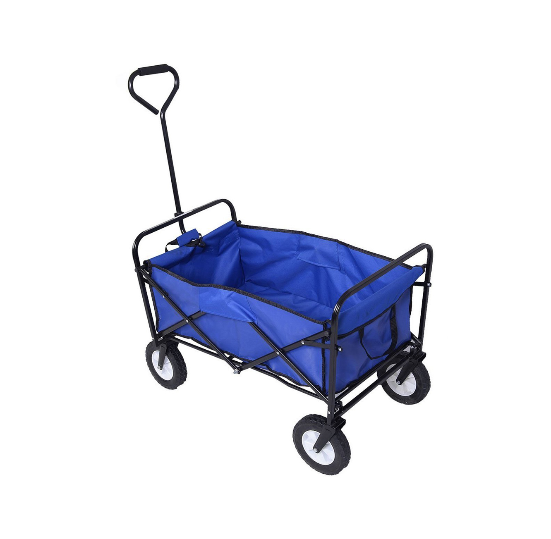 """עגלת קמפינג בעלת גלגלים וידית משיכה, קלת משקל המאפשרת נשיאה של חפצים עד 70 ק""""ג - משלוח חינם"""