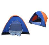 אוהל משפחתי ל 4 אנשים עם פתח כניסה רחב וחלון - עשוי פוליאסטר חסין למים ב-2 דגמים לבחירה