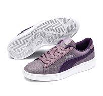 נעלי סניקרס Puma Smash V2 Glitz Glam Jr לנערות - סגול מנצנץ