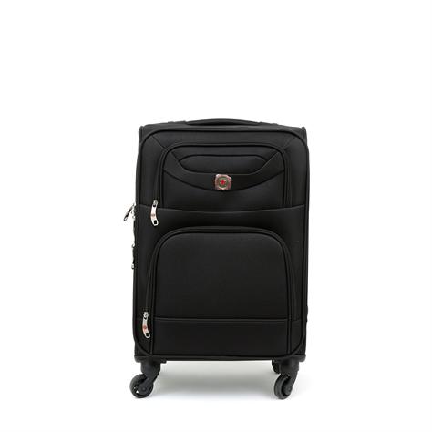 "Swiss Travel Club - מזוודת טרולי 54 ס""מ בצבע שחור"