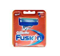 מארז שמיניית סכיני גילוח ג'ילט פיוזן Gillette Fusion - משלוח חינם!