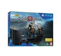 קונסולה Playstation 4 דגם SLIM נפח 1TB כולל 2 בקרים משחק GOW +סטנד מתנה
